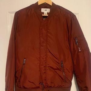H&M x David Beckham Burgundy Bomber Jacket
